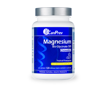 Can Prev Magnesium Bis Glycinate Tropical Pineapple 120 Chewable Tabs