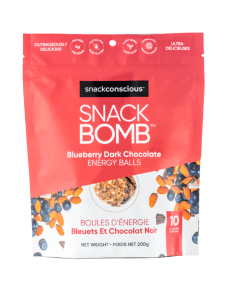 Snack Conscious Snack Bomb Blueberry Dark Chocolate Energy Balls 200g