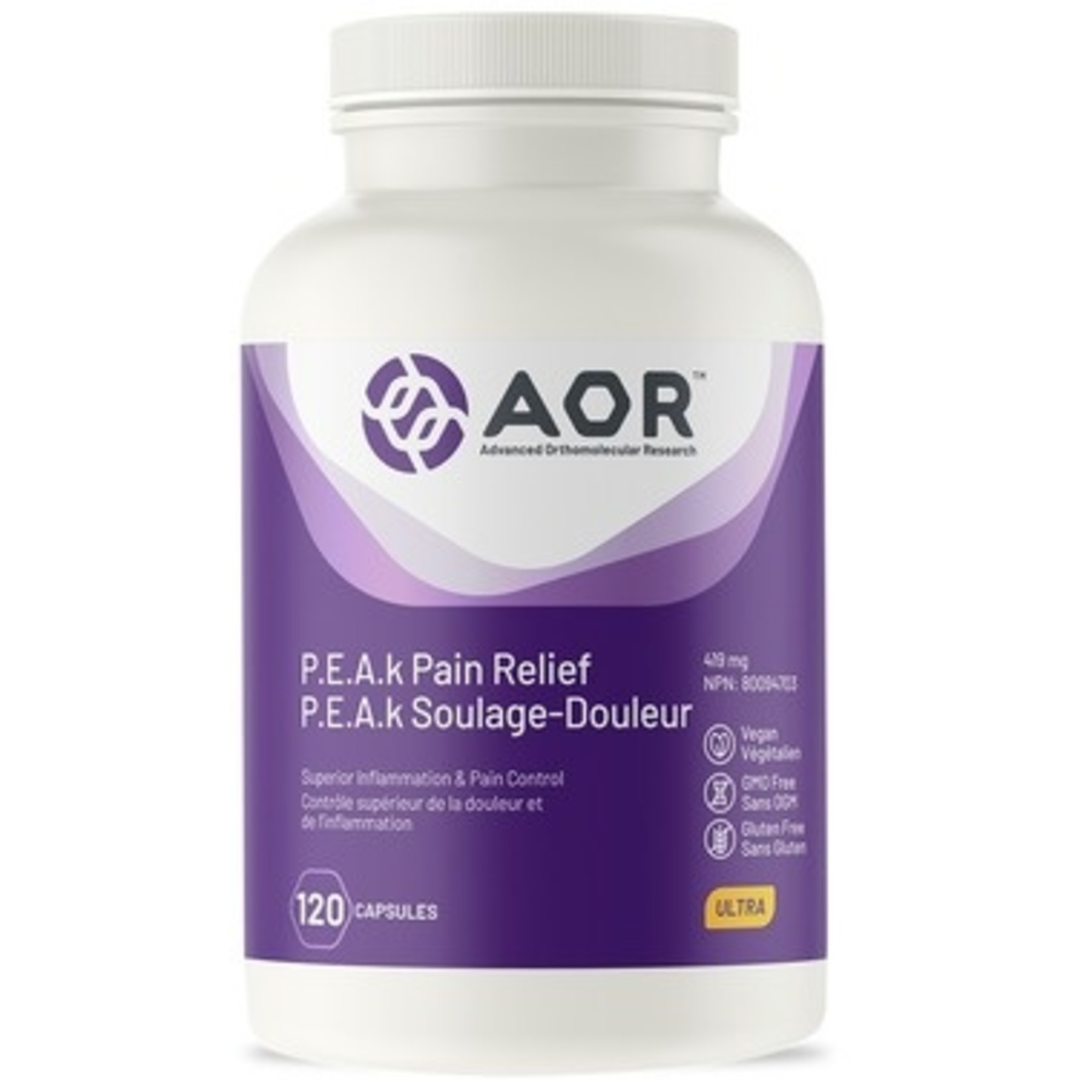 AOR P.E.A.k Pain Relief 120 caps