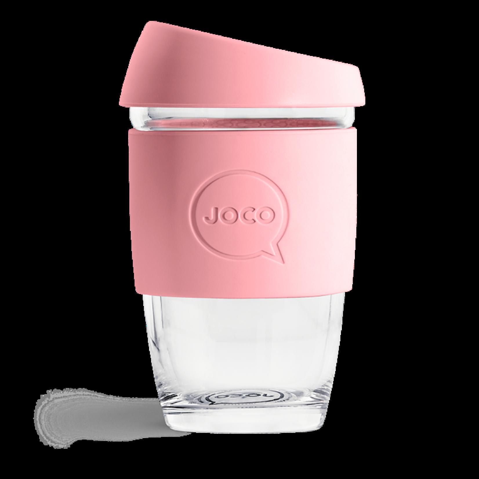 Joco Reusable Glass Cup Strawberry 6oz