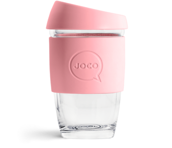 Reusable Glass Cup Strawberry 6oz