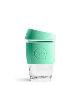 Joco Reusable Glass Cup Vintage Green 6oz