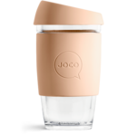 Joco Reusable Glass Cup 16oz Amberlight