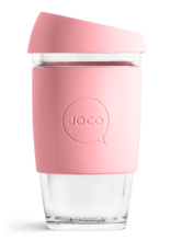 Joco Reusable Glass Cup 16oz Strawberry