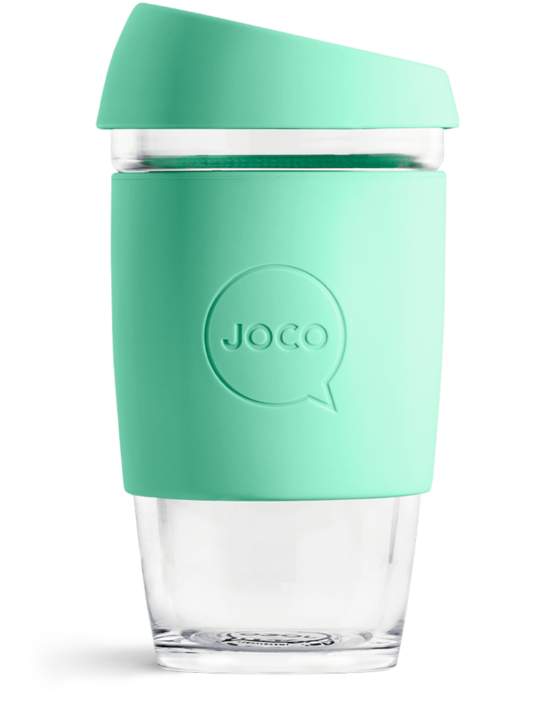 Joco Reusable Glass Cup 16oz Vintage Green