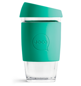 Joco Reusable Glass Cup 16oz Mint