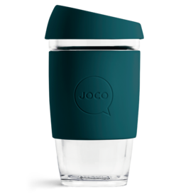 Joco Reusable Glass Cup 16oz Deep Teal