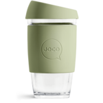 Joco Reusable Glass Cup 16oz Army