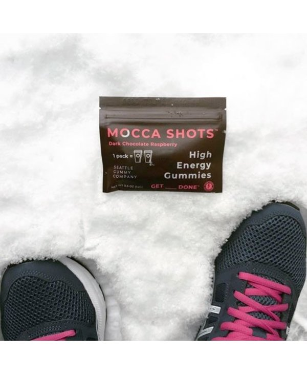 Mocca Shots Energy Gummies- Dark Chocolate Raspberry