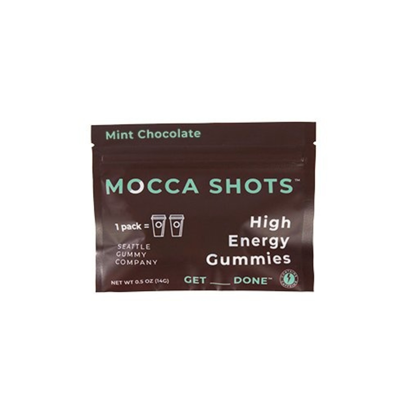 Seattle Gummy Company Mocca Shots Energy Gummies- Mint Chocolate