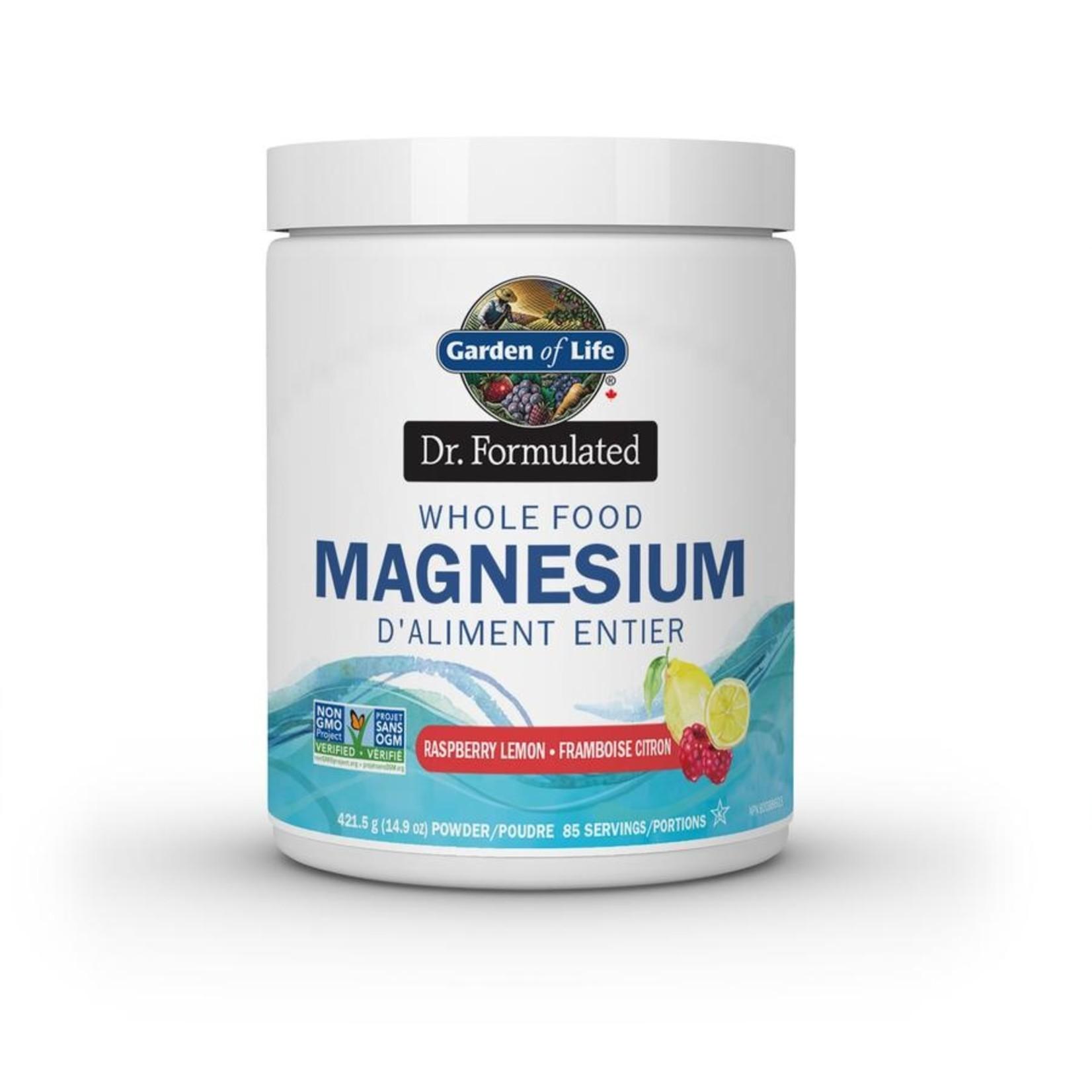 Garden Of Life Dr. Formulated Whole Food Magnesium Raspberry Lemon 421g