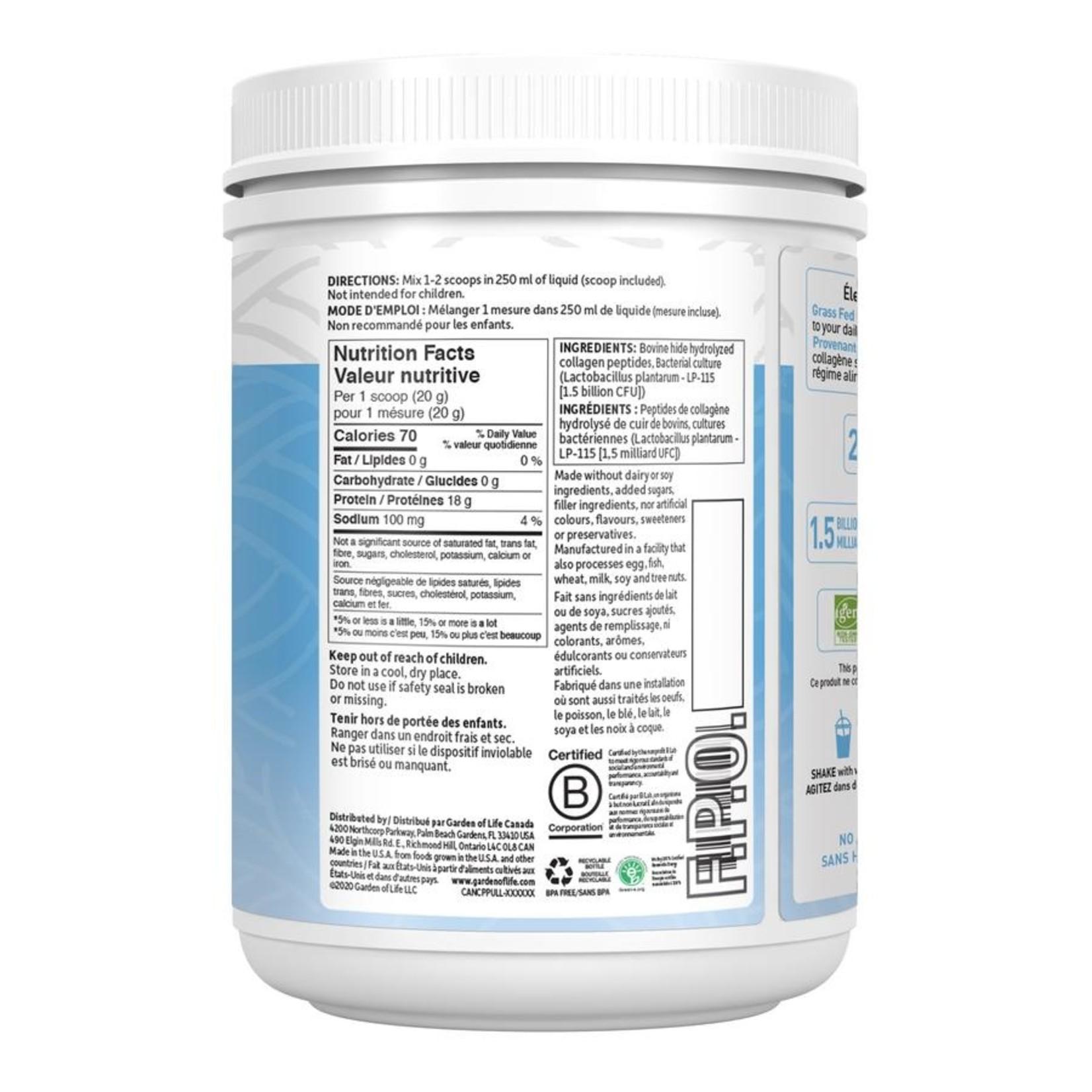Garden Of Life Grass Fed Collagen Peptides Unflavoured 560g