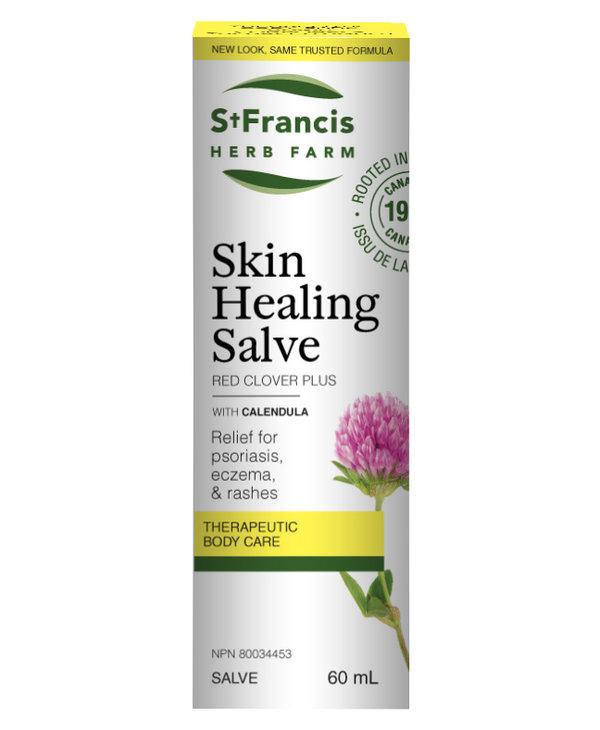 St Francis Skin Healing Salve - Red Clover Plus 60ml