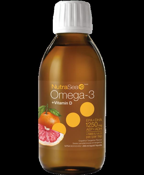 NutraSea Omega 3 + D Grapefruit Tangerine 200ml