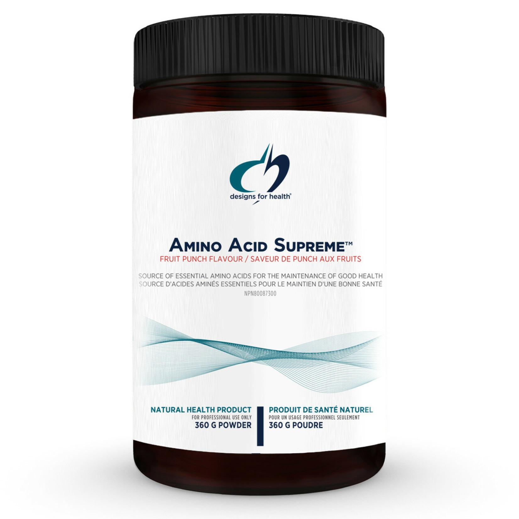 Designs for Health Amino Acid Supreme - Fruit Punch 360g Powder