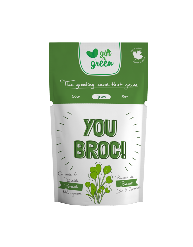 Gift A Green Microgreen Greeting Card - You Broc! Broccoli Microgreens