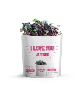 Gift A Green Microgreen Greeting Card I Love You- Radish Microgreens