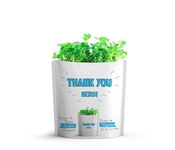 Microgreen Greeting Card Thank You- Arugula Microgreens