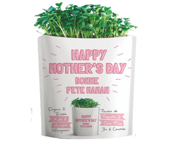Microgreen Greeting Card Happy Mother's Day- Kale and Arugula Microgreens