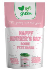 Gift A Green Microgreen Greeting Card Happy Mother's Day- Kale and Arugula Microgreens