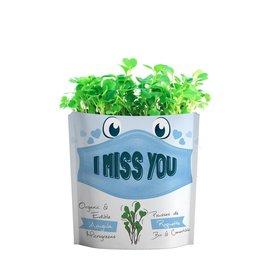 Gift A Green Microgreen Greeting Card I Miss You - Arugula
