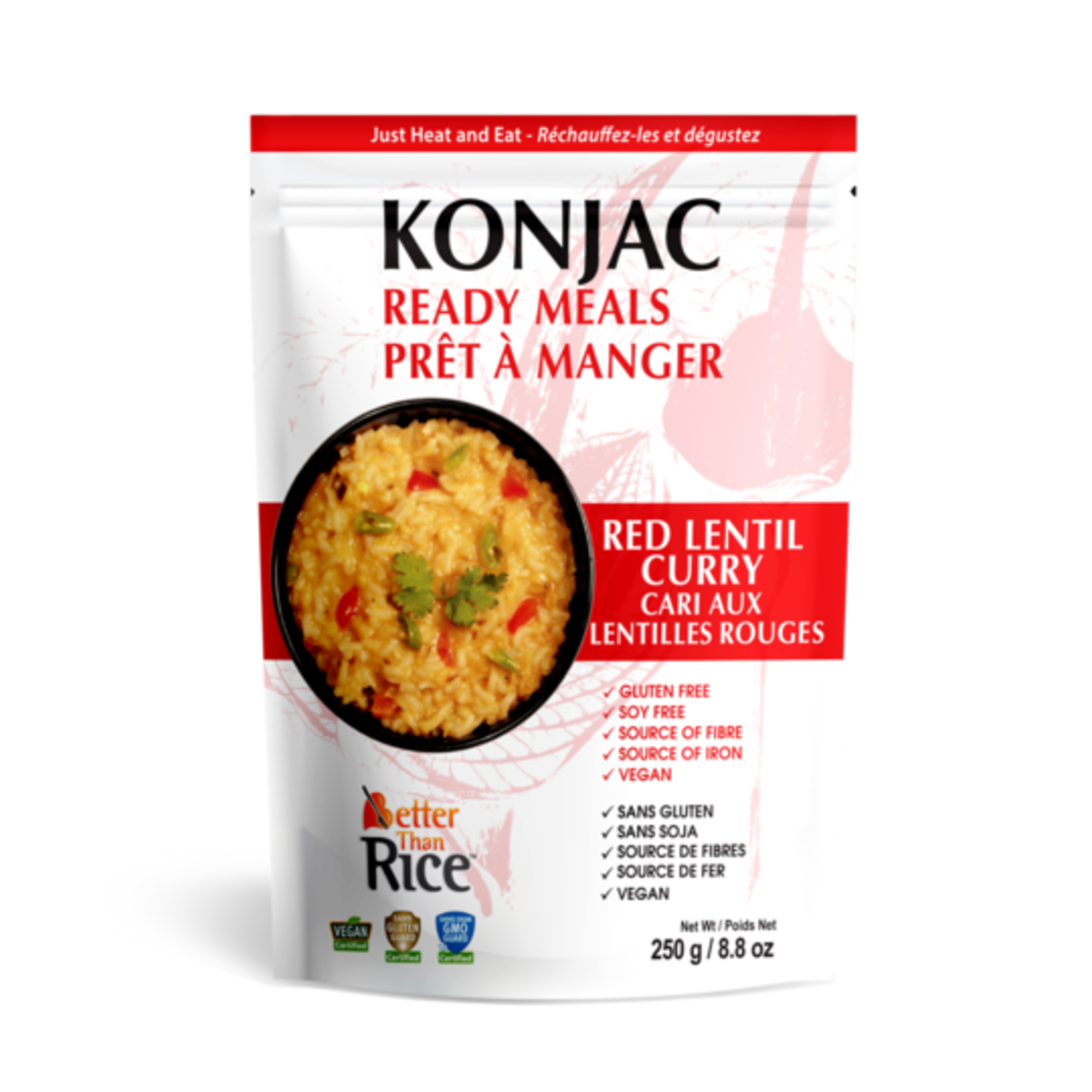 Better Than Noodles Konjac Ready Meals Red Lentil Curry 250g