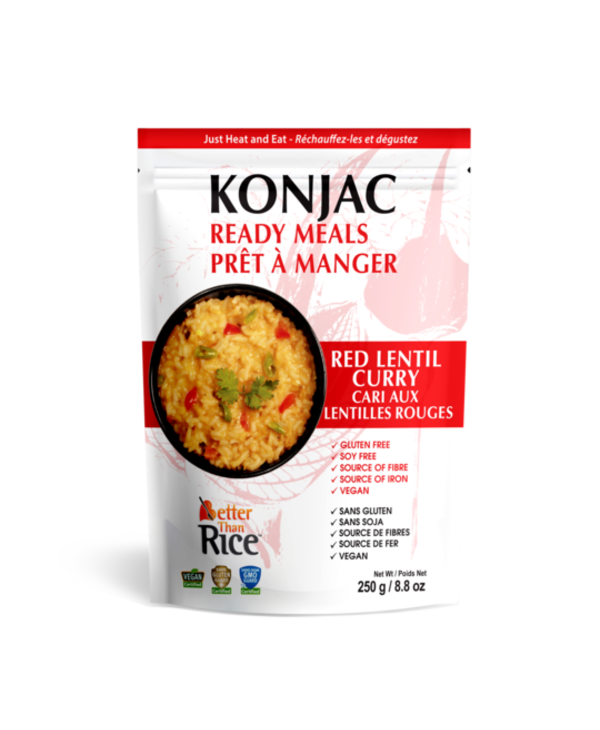 Konjac Ready Meals Red Lentil Curry 250g