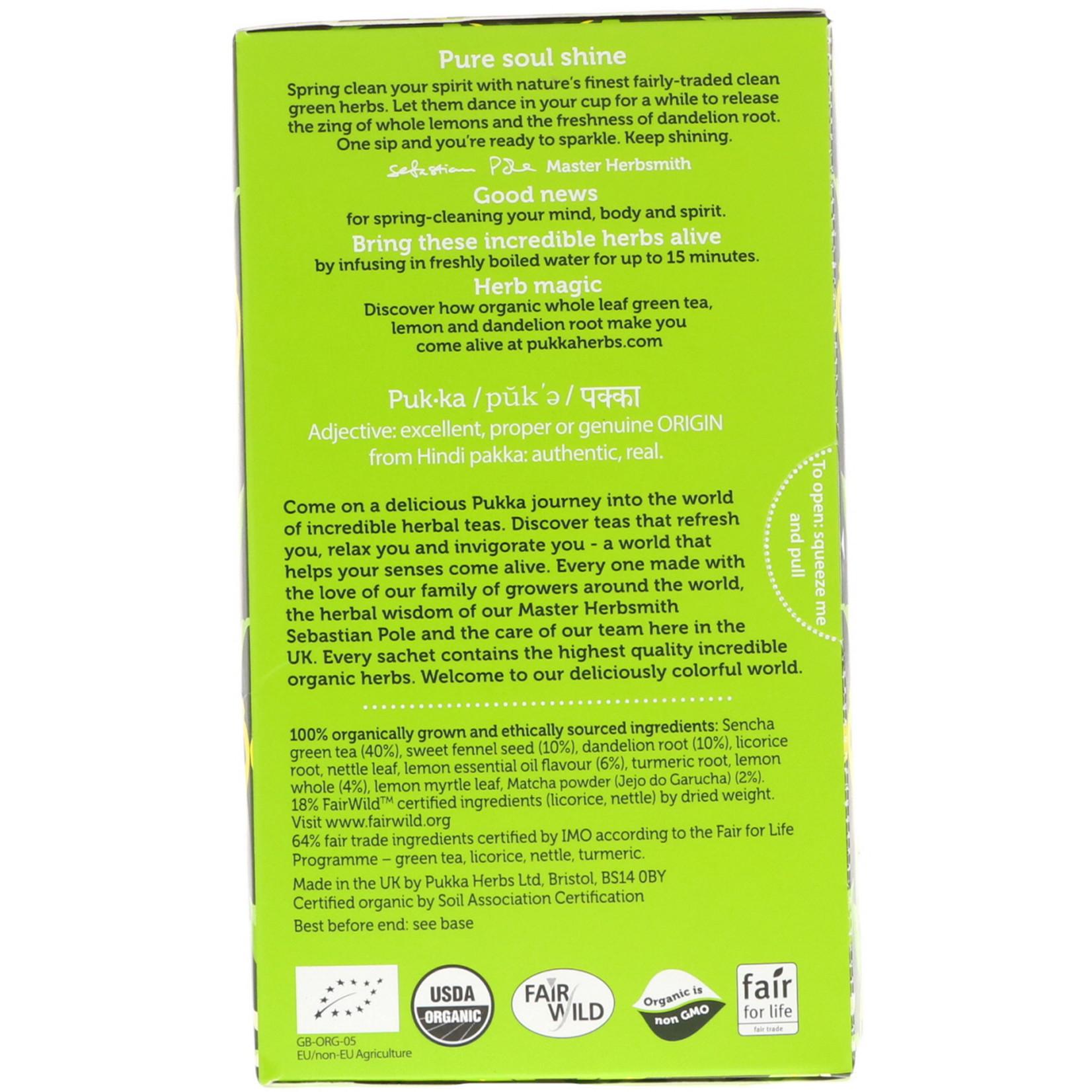 Pukka Clean Matcha Green 20 Tea Bags