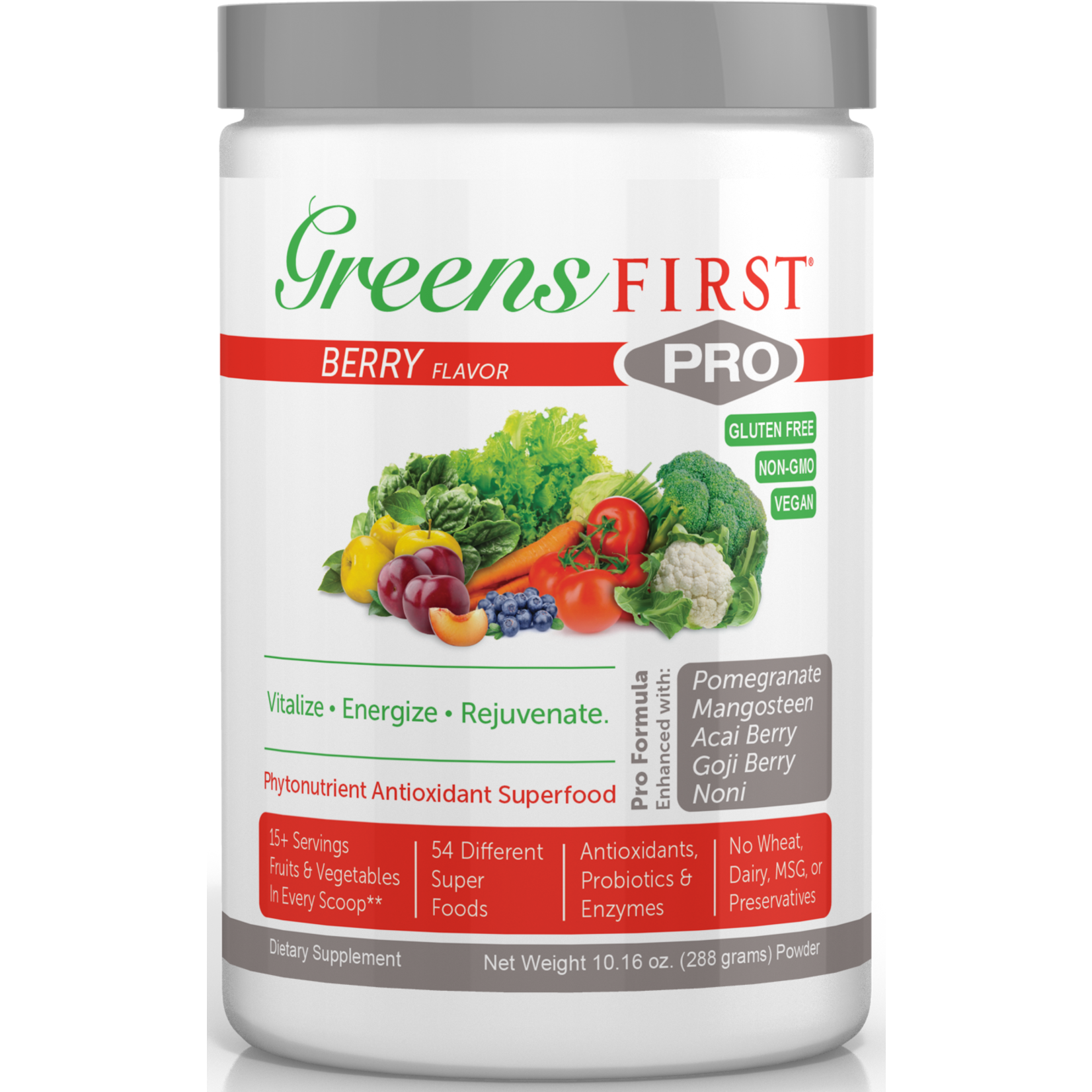 Greens First Greens First Pro Greens Powder- Berry 288g