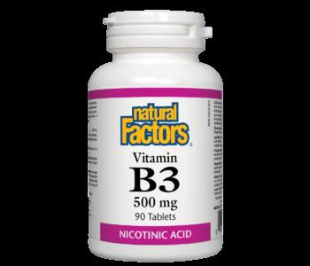 Vitamin B3 500mg Nicotinic Acid 90 tabs