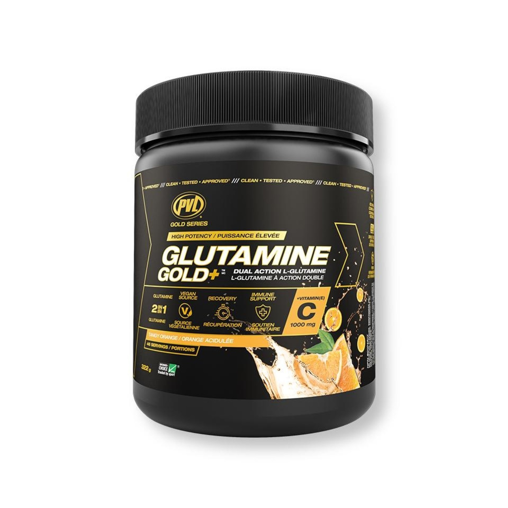 Pure Vita Labs Glutamine Gold+ Tangy Orange 322g
