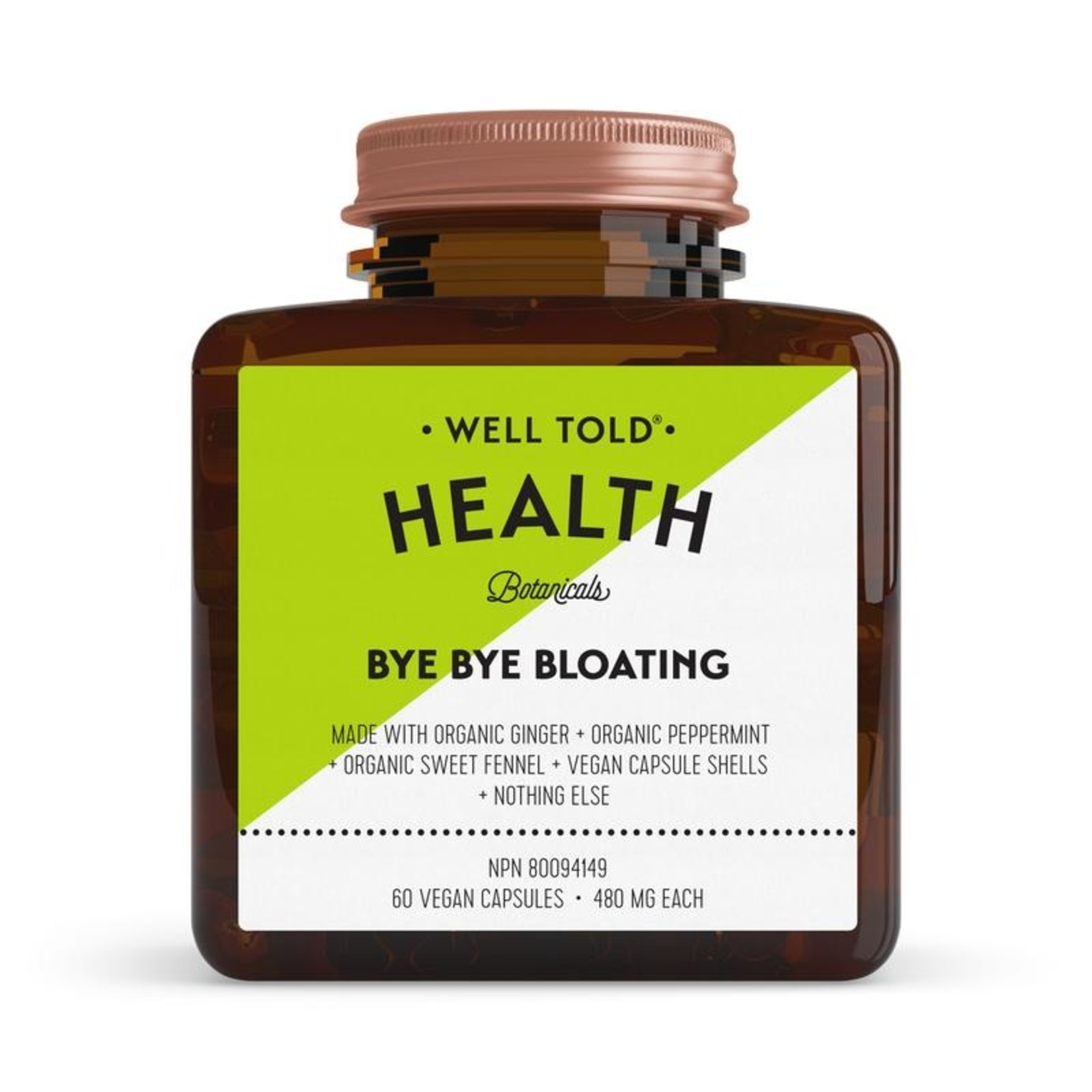 Well Told Health Bye Bye Bloating 60 caps