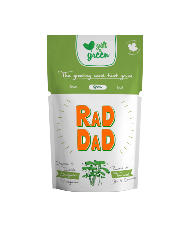 Microgreen Greeting Card Rad Dad- Sunflower Microgreens
