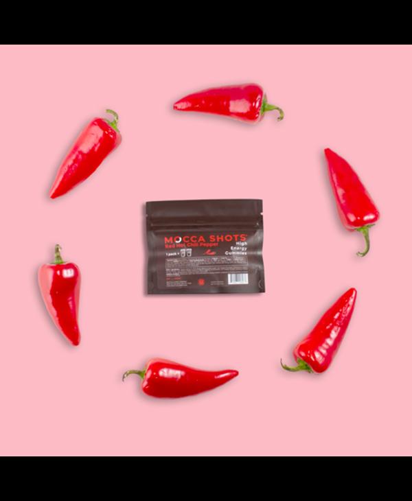 Mocca Shots Energy Gummies Red Hot Chili Pepper