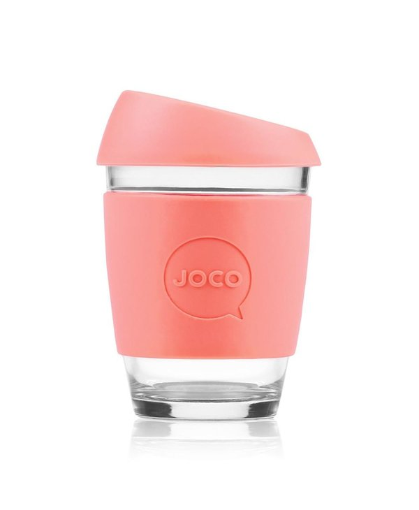 Reusable Glass Cup 12oz Persimmon