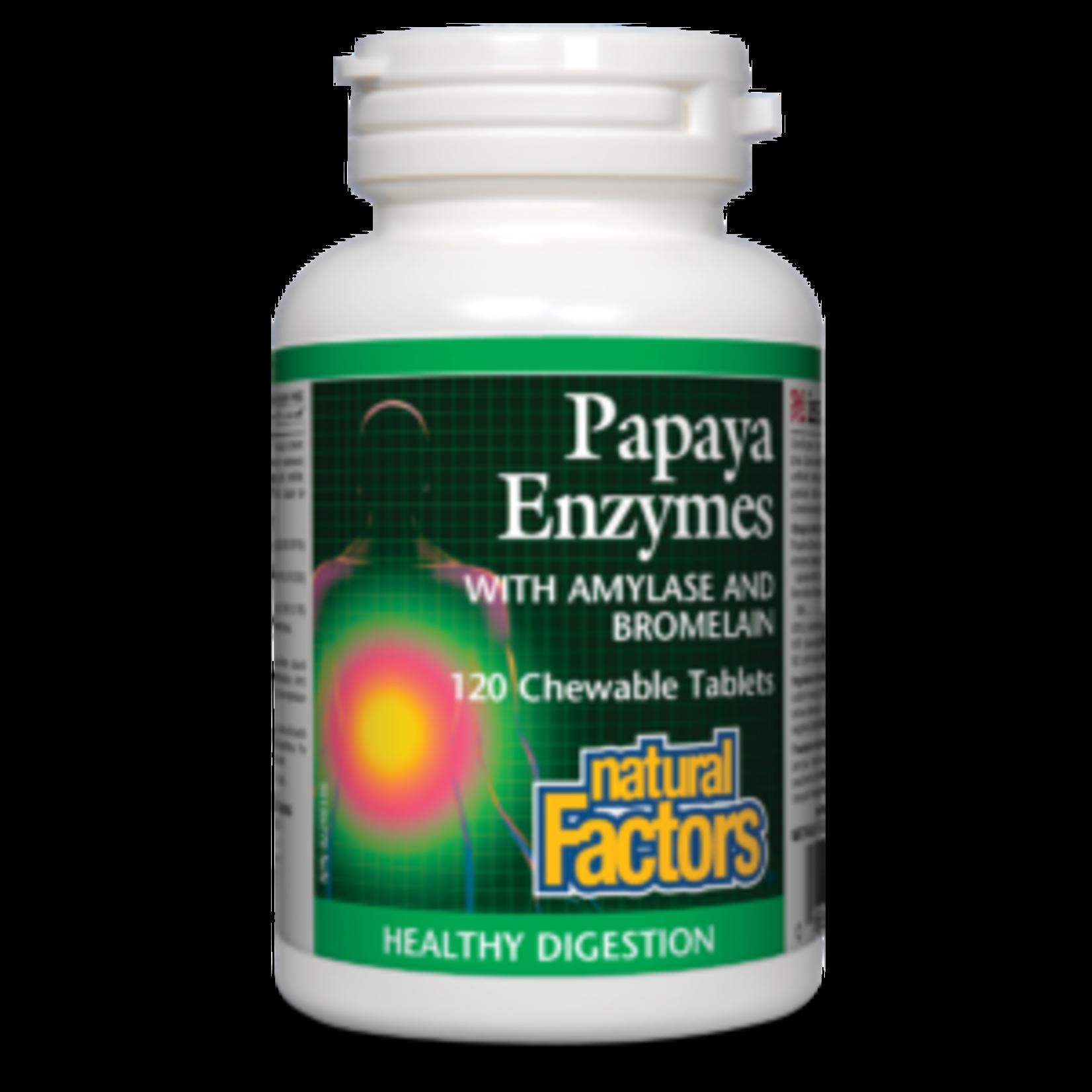 Natural Factors Papaya Enzyme Chewable 60 tabs