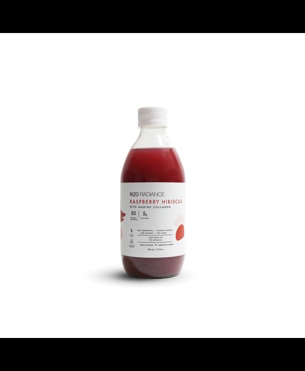 Raspberry Hibiscus  Craft Brew Tea with Marine Collagen 330ml
