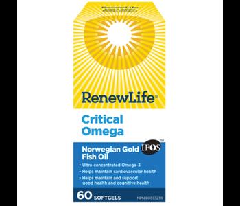 Critical Omega Norwegian Gold Fish Oil 60 softgels