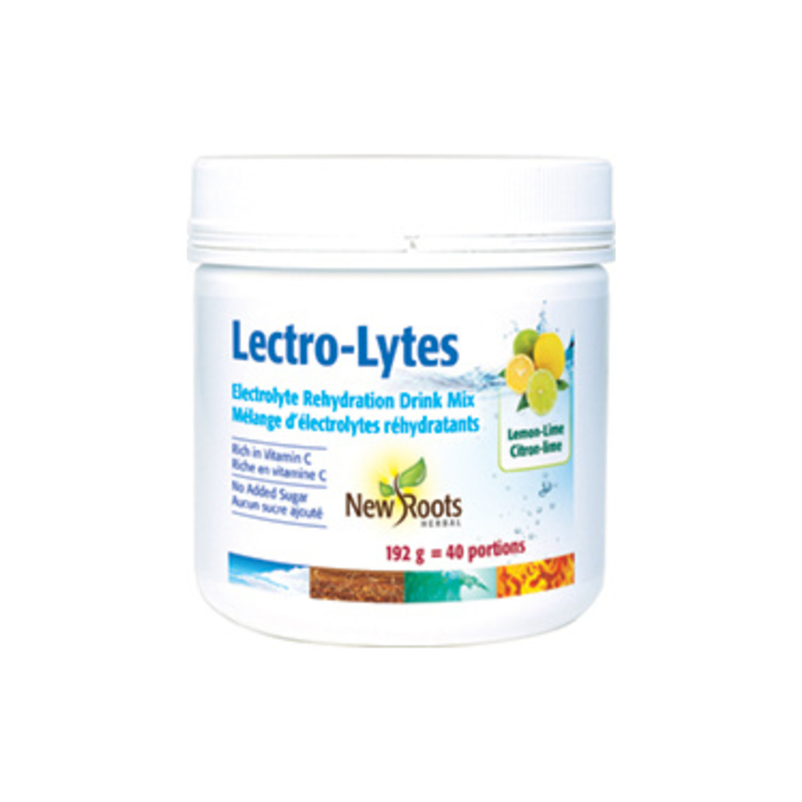 New Roots Lectro-lytes Electrolyte Rehydration Drink Mix Lemon Lime 168g