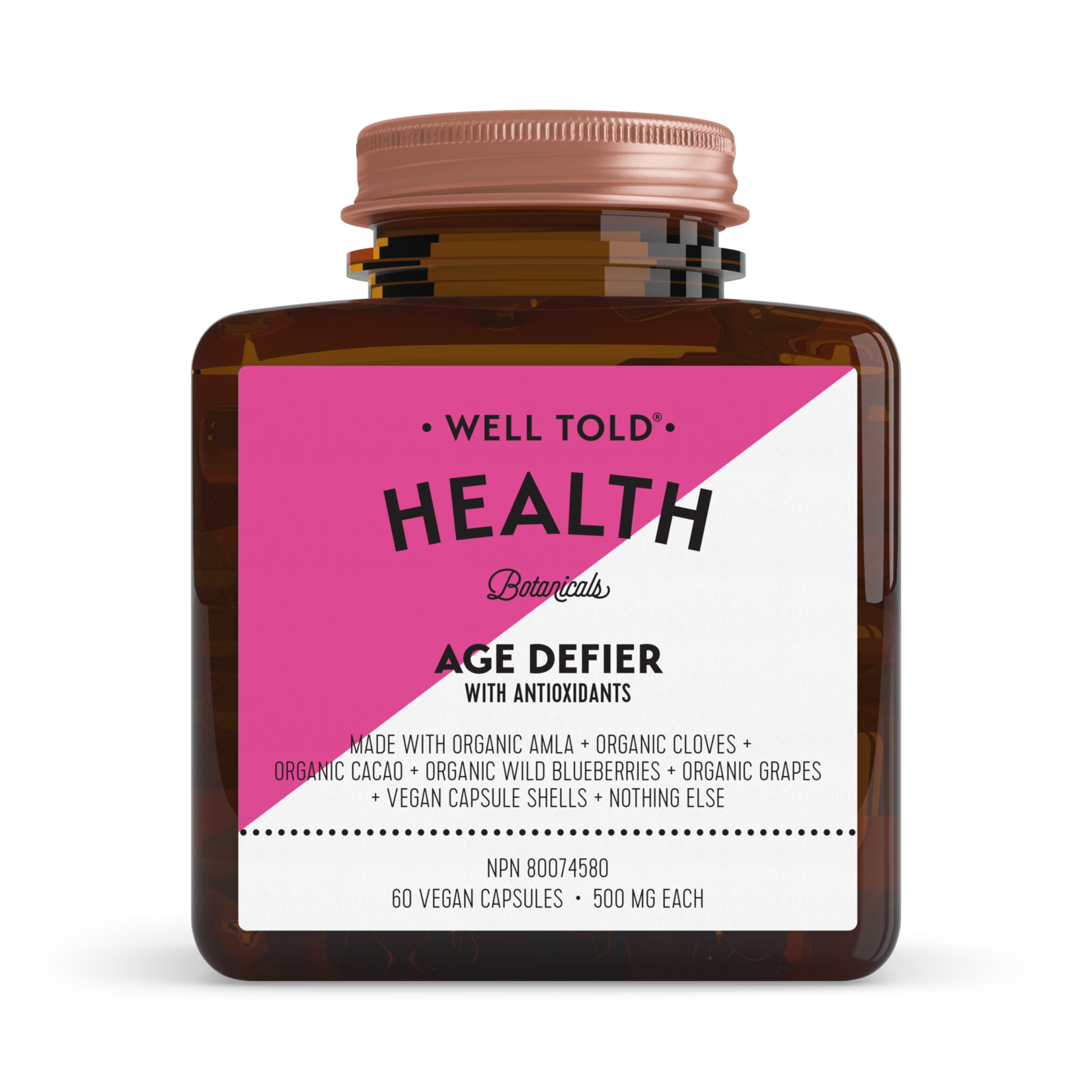 Well Told Health Age Defier 60 caps