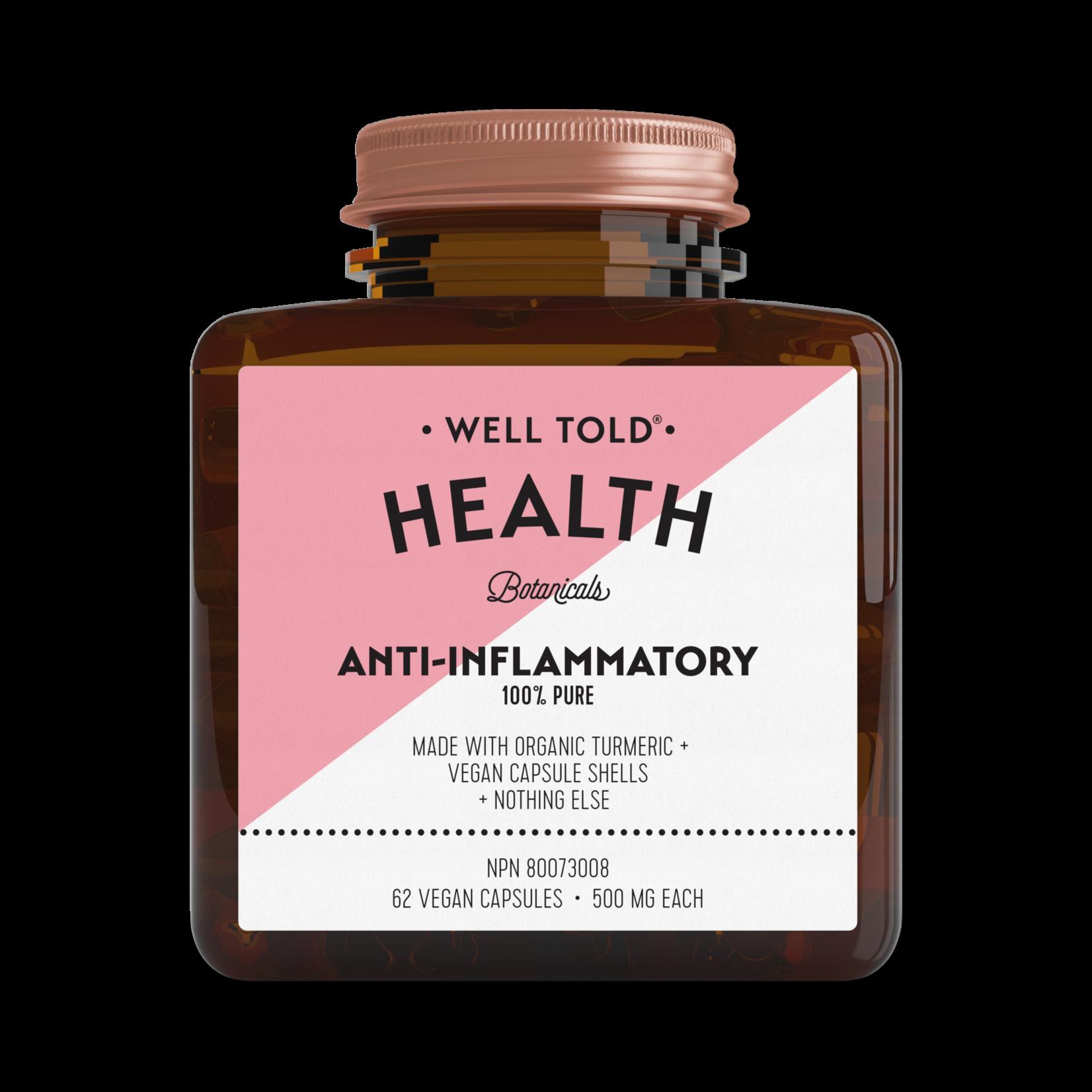 Well Told Health Anti-Inflammatory 62 caps