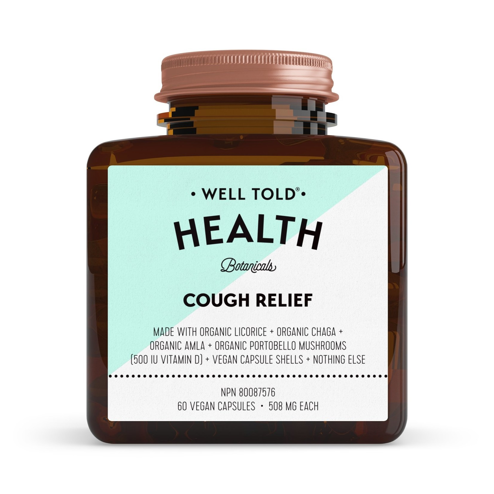 Well Told Health Cough Relief 60 caps
