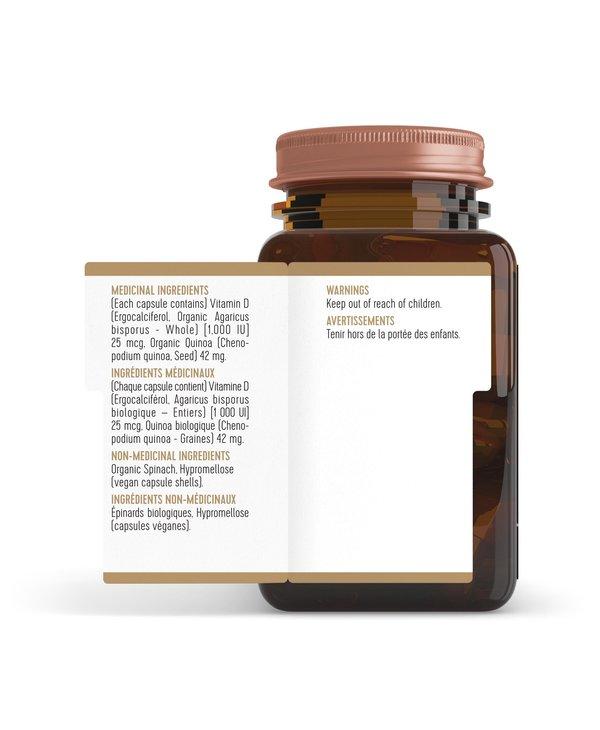 Plant-Based Vitamin D 1000 IU 62 caps