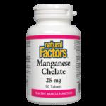 Natural Factors Manganese Chelate 25 mg 90tablets