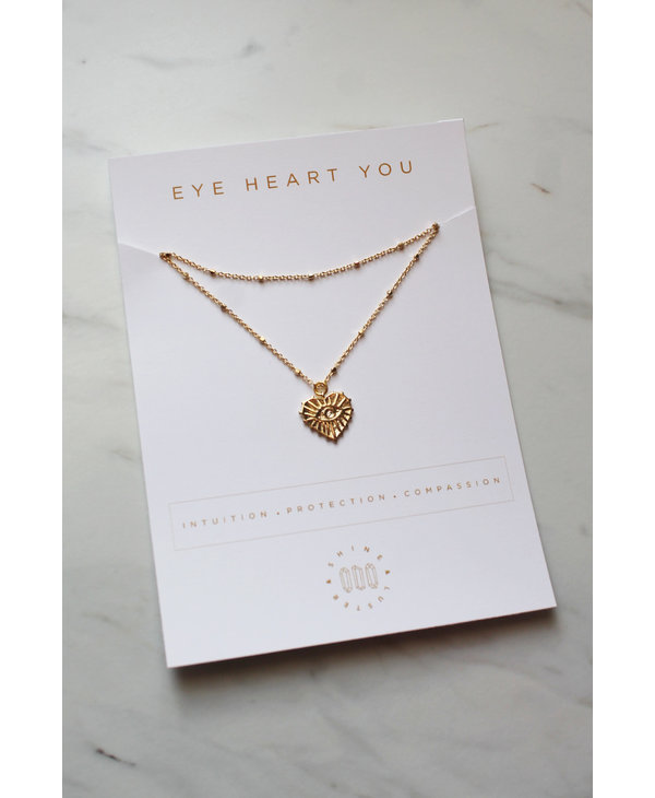 Shine and Luster Necklace Eye Heart You