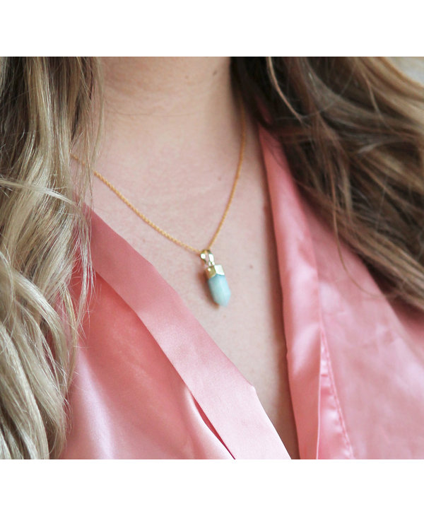 Shine and Luster Amazonite Necklace