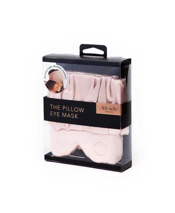 Satin Pillow Eye Mask - Blush
