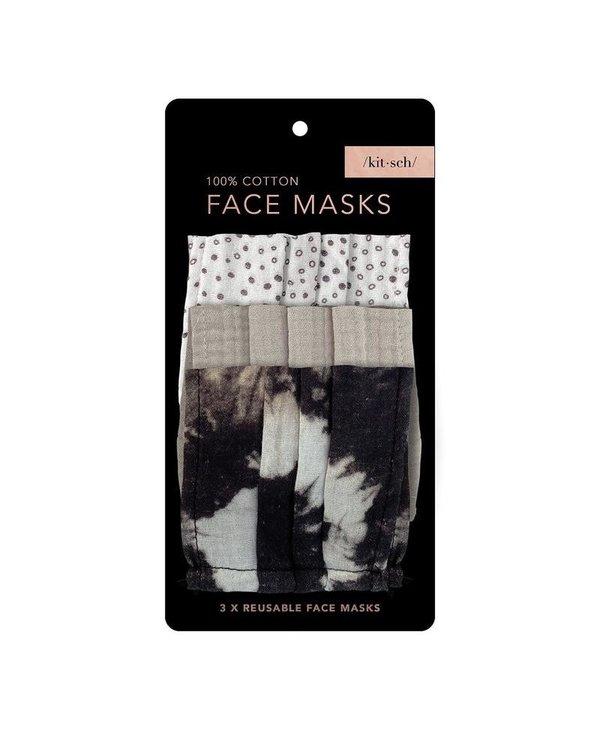 100% Cotton Face Mask 3 Piece Set- Neutral