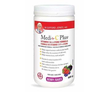 Medi C Plus Vitamin C & Lysine with Magnesium- Berry 600g