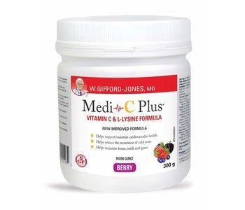 Medi C Plus Vitamin C & Lysine with Magnesium- Berry 300g